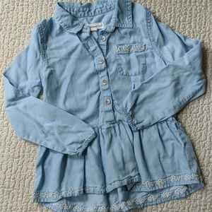 Girls Tucker & Tate chambray button-up shirt